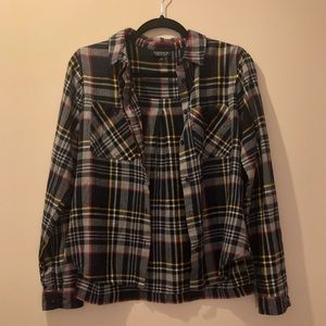 Topshop Button Down Plaid Shirt
